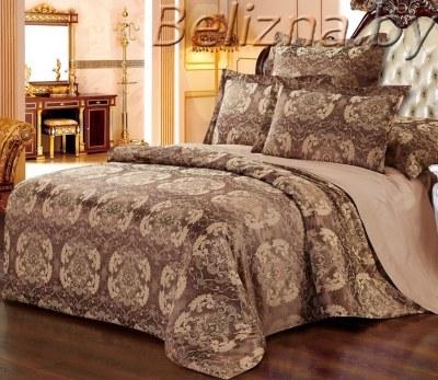 Двуспальное постельное белье из сатин-жаккарда «LM-409»