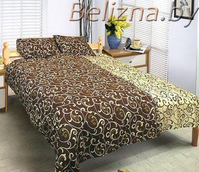Двуспальное постельное белье «Комбинированные завитки»