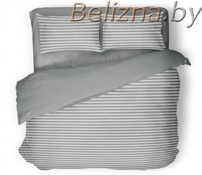 Двуспальное постельное белье «Полоска серая»