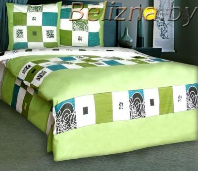 Полуторное постельное белье «Зеленый Элит»