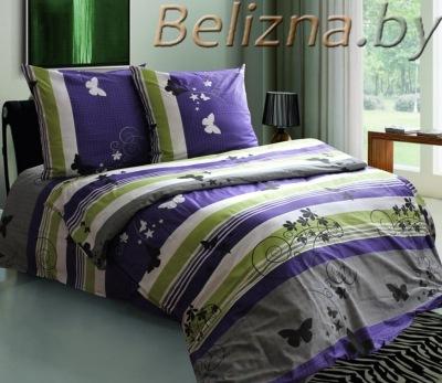 Постельное белье ЕВРО из бязи «Мотыльки Фиолетовые»