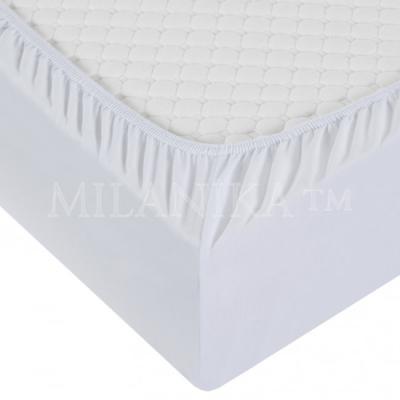 Простынь на резинке 160x200 «Белая»