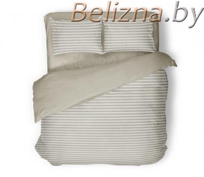 Семейное постельное белье ДУЭТ «Полоска бежевая»