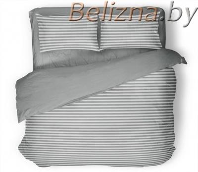 Семейное постельное белье ДУЭТ «Полоска серая»