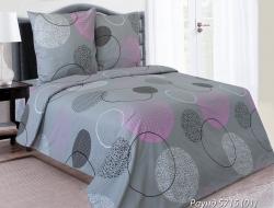 Полуторное постельное белье из бязи «Раунд 01 с розовым»