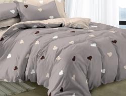 Семейное постельное белье ДУЭТ «1038» с простыней на резинке 160х200