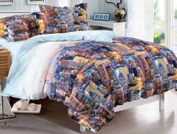 Полуторное постельное белье из поплина «1055»