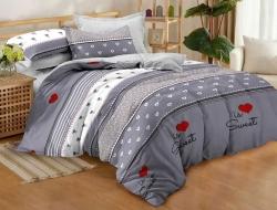 Двуспальное постельное белье из поплина «1090»