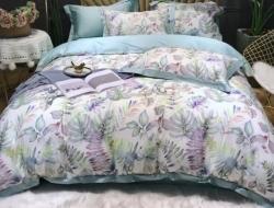 Семейное постельное белье ДУЭТ «1848» с простыней на резинке 160х200