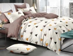 Двуспальное постельное белье из поплина «70267»