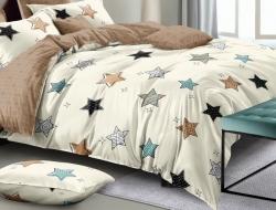 Полуторное постельное белье из поплина «70273»