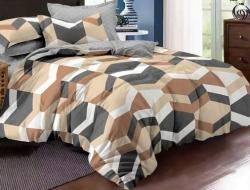 Двуспальное постельное белье из поплина «922»