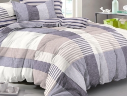 Семейное постельное белье ДУЭТ «976» с простыней на резинке 180х200