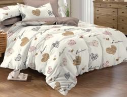 Полуторное постельное белье из поплина «990»