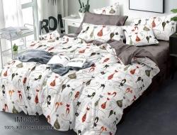 Полуторное постельное белье «IM0504» с простыней на резинке 90*200