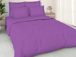 Простынь на резинке 160x200 «Фиолетовая»
