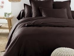 Семейное постельное белье ДУЭТ из сатина «Черный трюфель»
