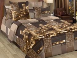 Семейное постельное белье ДУЭТ из бязи «Сити (кофейный)»