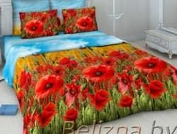Двуспальное постельное белье «Маковое поле»