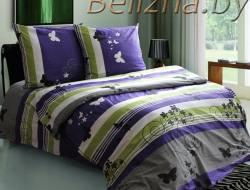 Двуспальное постельное белье из бязи «Мотыльки фиолетовые»