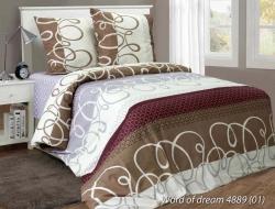 Двуспальное постельное белье из бязи «Word of dream 4889»