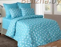 Двуспальное постельное белье из бязи «Звезды Голубые»