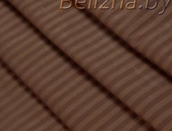 Двуспальное постельное белье из страйп-сатин-жаккарда «Шоколад»