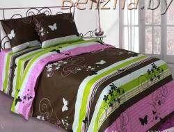 Двуспальное постельное белье «Мотыльки коричневые»