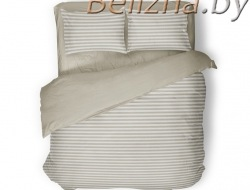 Двуспальное постельное белье «Полоска бежевая»