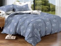 Полуторное постельное белье из поплина «952»