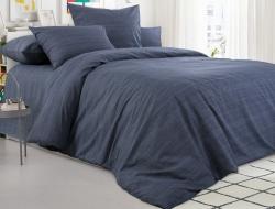 Двуспальное постельное белье из поплина «Графитовый камень»