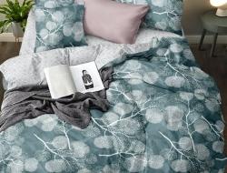 Двуспальное постельное белье из поплина «H31»