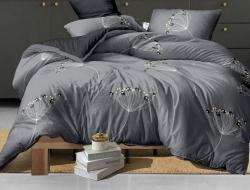 Полуторное постельное белье из поплина «HX8049»