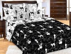Полуторное постельное белье из бязи «Котофей»