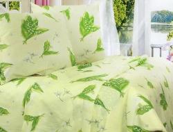 Полуторное постельное белье из бязи «Лесной ландыш»