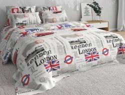 Полуторное постельное белье «Лондон вид2»