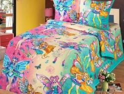 Полуторное постельное белье из бязи «Волшебницы Winx»