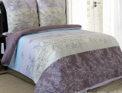 Двуспальное постельное белье «Миндаль с голубым»