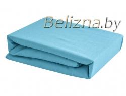 Простынь на резинке 160x200 «Голубая»