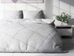 Двуспальное постельное белье из поплина «Пейсли белый»