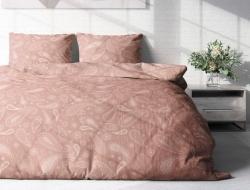 Семейное постельное белье ДУЭТ из поплина «Пейсли капучино»