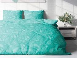 Двуспальное постельное белье из поплина «Пейсли мята»