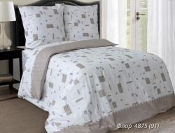 Полуторное постельное белье из бязи «Флор синий»