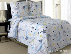 Полуторное постельное белье из бязи «Moon&Star»