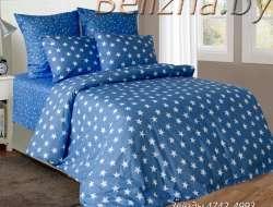 Полуторное постельное белье из бязи «Звезды синие»