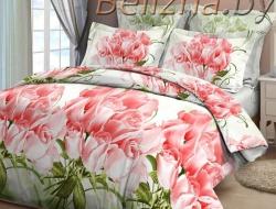Полуторное постельное белье 3D «Коллекционные розы»