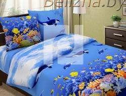 Полуторное постельное белье «Подводный мир»