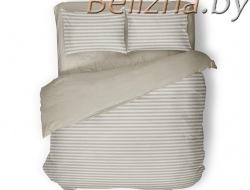Полуторное постельное белье «Полоска бежевая»