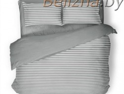 Полуторное постельное белье «Полоска серая»