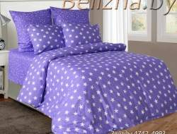 Постельное белье ЕВРО из бязи «Звезды Фиолетовые»